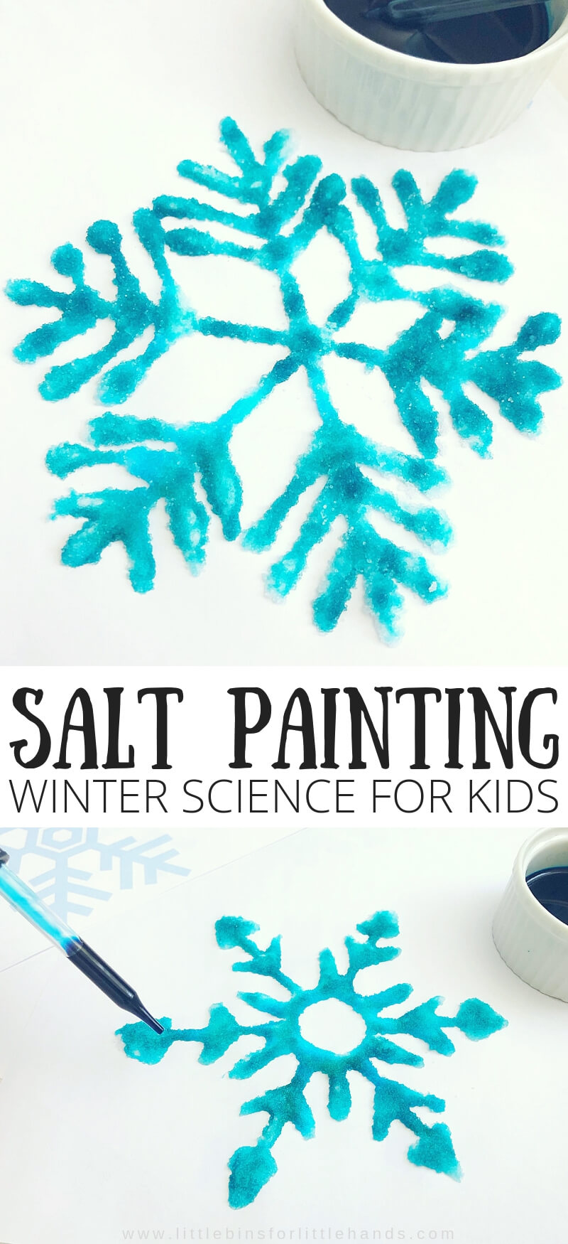 Snowflake Salt painting Winter Science