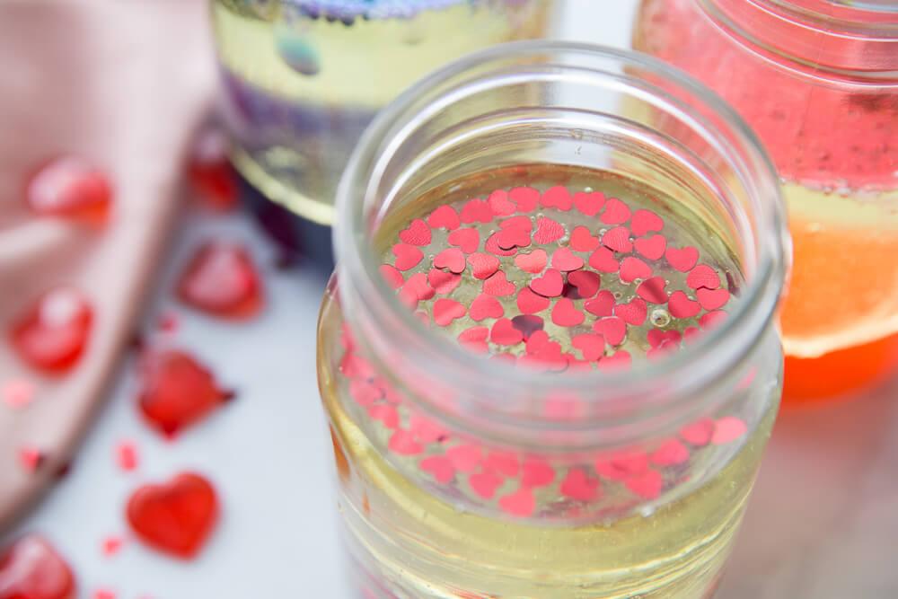 heart confetti for heart theme lava lamp