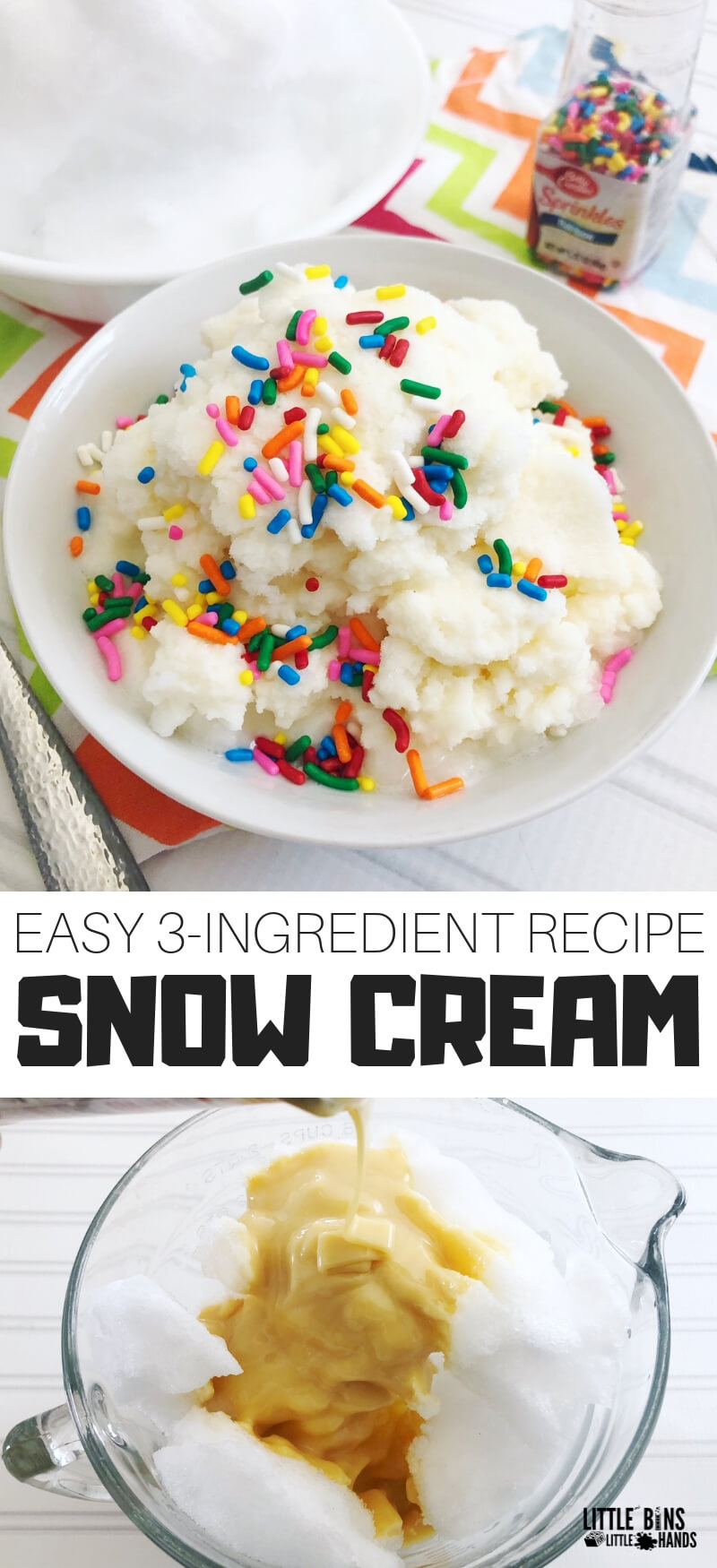How to make snow ice cream with this easy snow cream recipe.