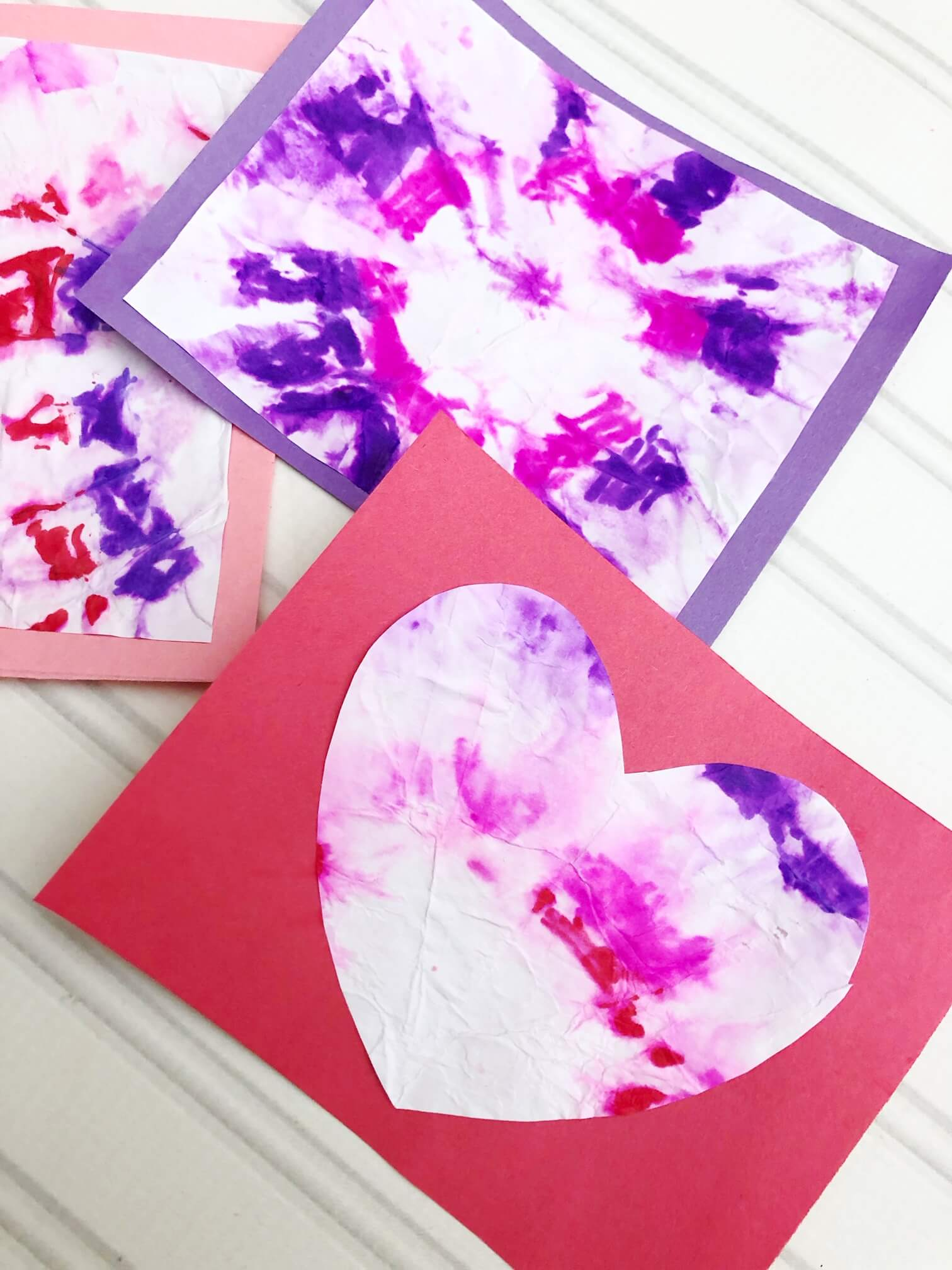 4ff0a20f7df422 Sharpie Tie Dye Science Valentines Cards Kids Can Really Make!