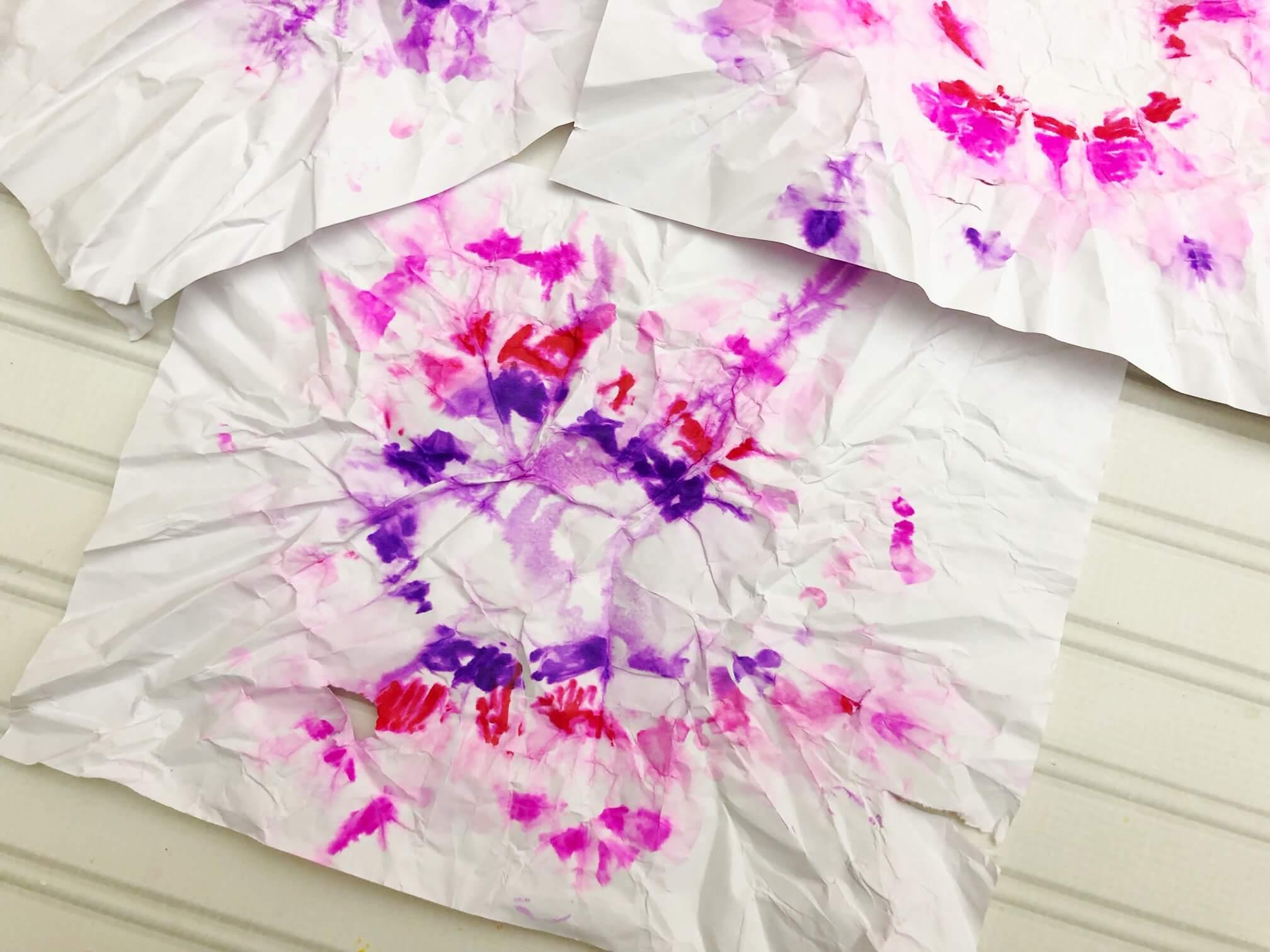 tie dye sharpie paper drying