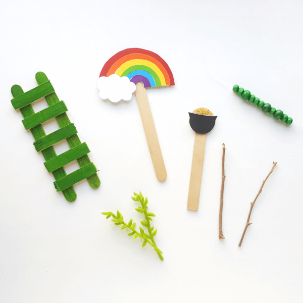 items to include in leprechaun trap ideas are rainbows, ladders, pots of gold