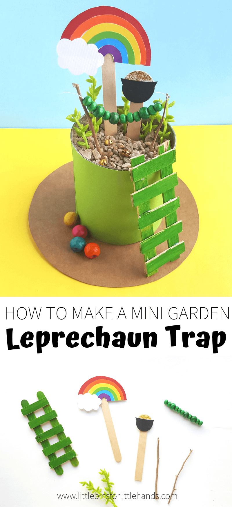 Learn how to make a leprechaun trap garden for St Patricks Day Science Challenges