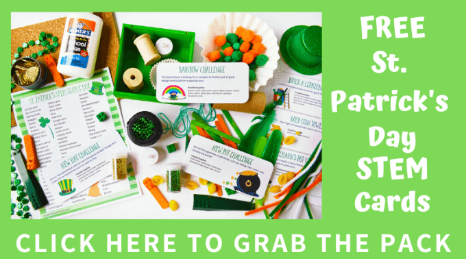 St Patricks Day STEM Challenge cards pack
