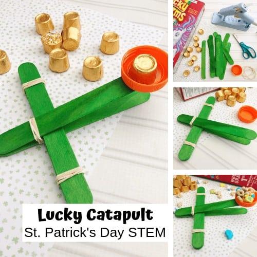 St patricks Day Popsicle Stick Catapult