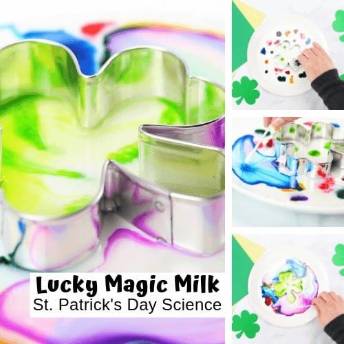 St Patricks Day Magic Milk