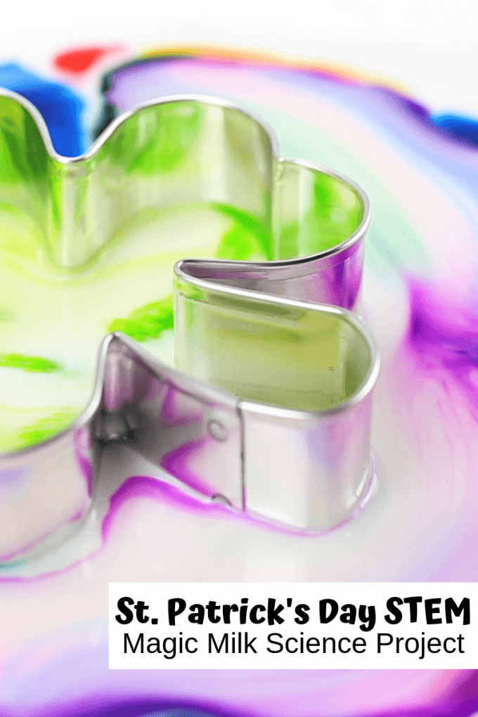 East St Patricks Day Magick Milk Experiment with milk and soap