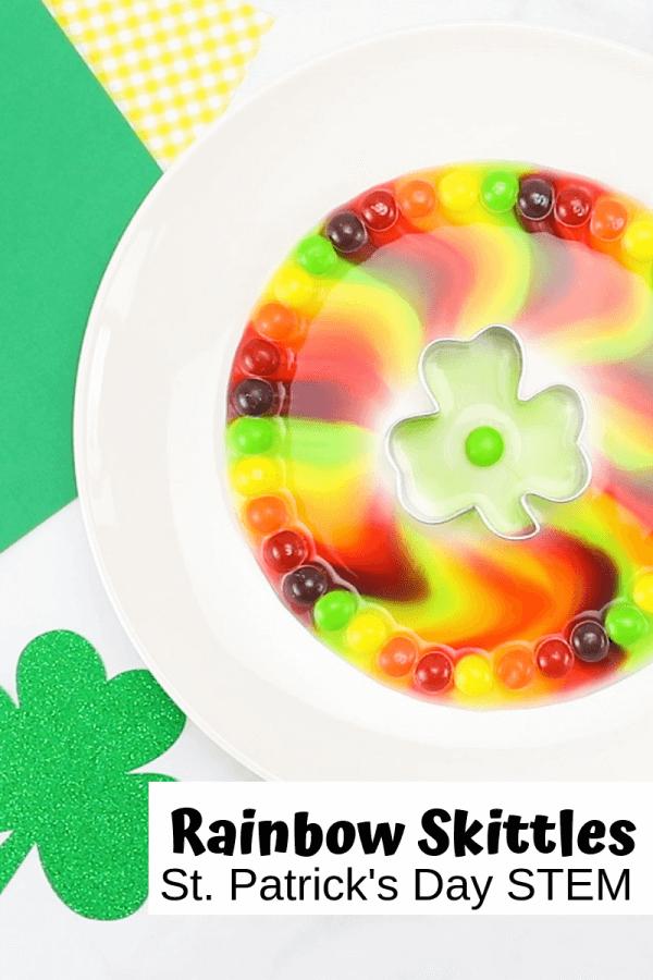 St Patrick's Day activities - rainbow skittles