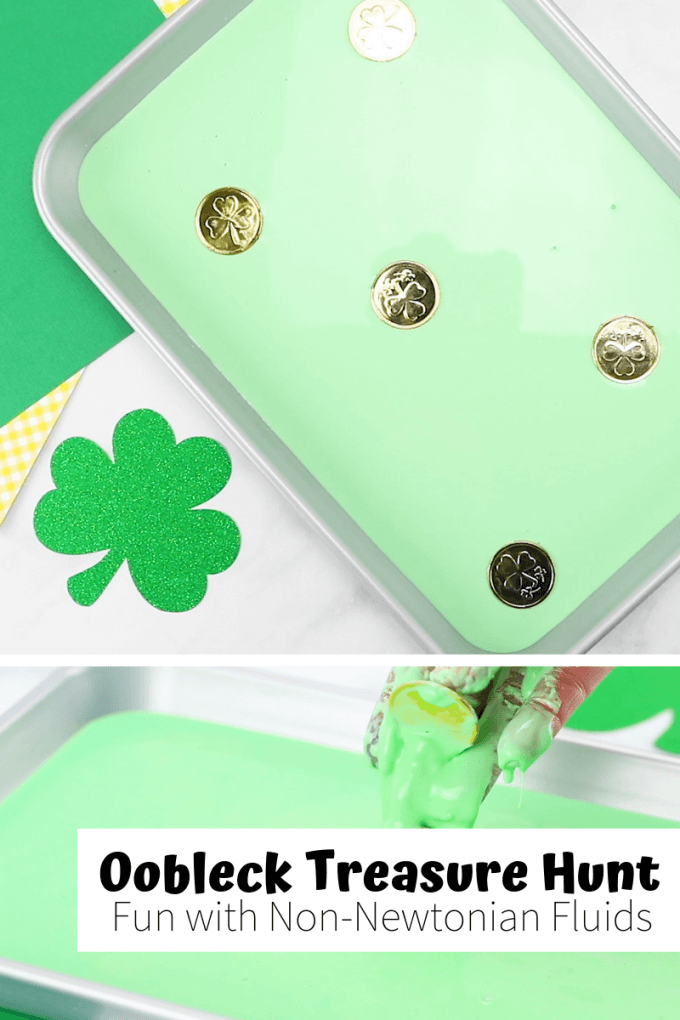 Learn how to make St Patricks Day Oobleck with cornstarch for simple science.