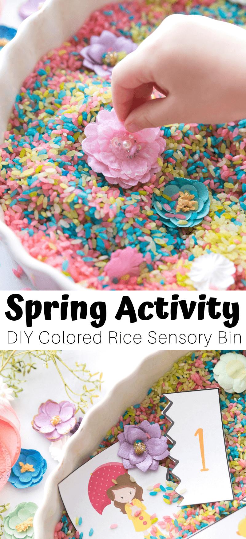 make a spring sensory bin for preschoolers