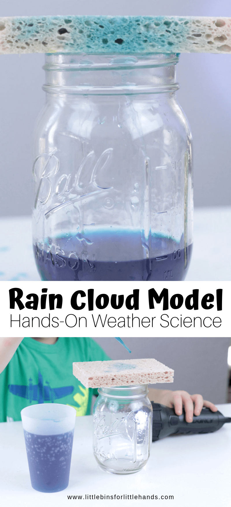 Sponge Rain Cloud Model for Spring Weather Activities and Preschool Science