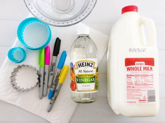 Milk and Vinegar Plastic Experiment | Little Bins for Little