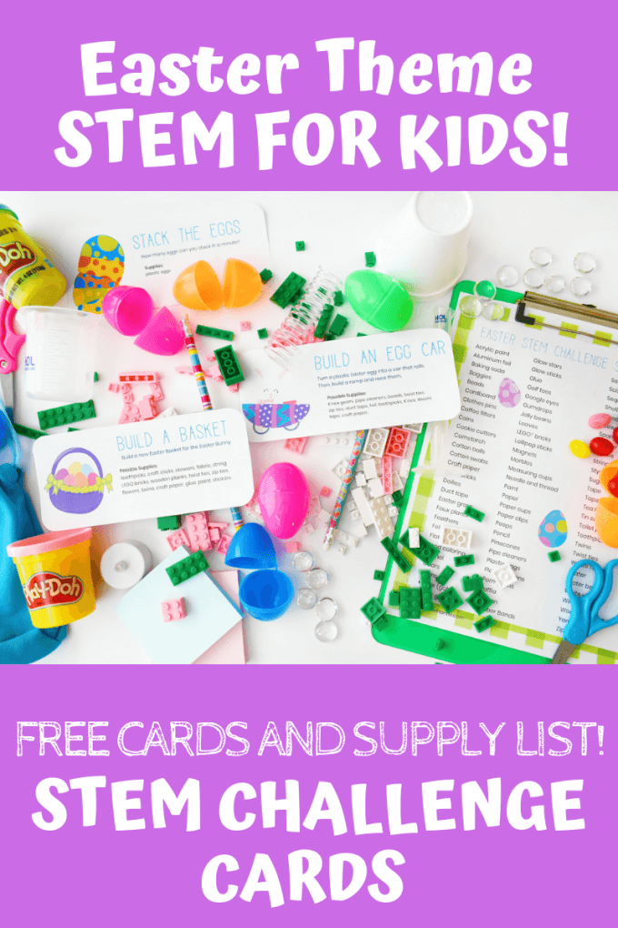 picture regarding Free Printable Easter Cards known as Easter STEM Problem Playing cards (Absolutely free Sheets!) Minimal Containers for