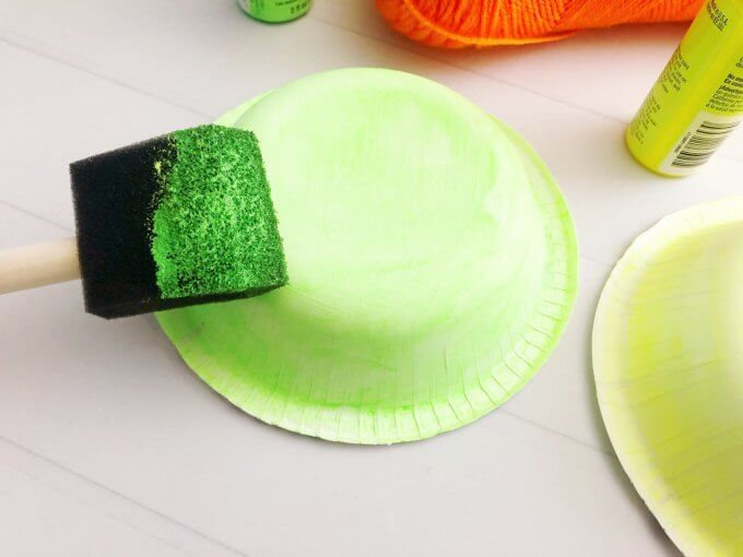 paint bowls with neon paint