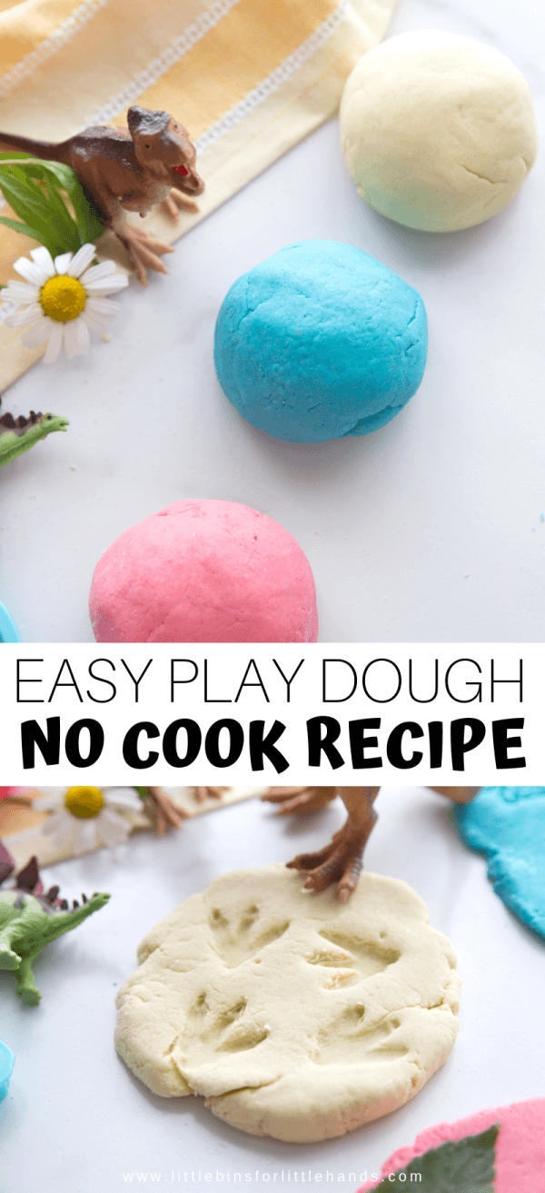 Make this easy no cook playdough  for fun homemade playdough recipe!