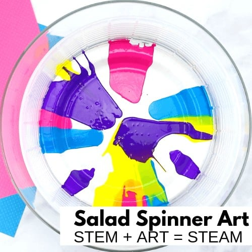 Salad Spinner Art Summer STEAM Project for Kids