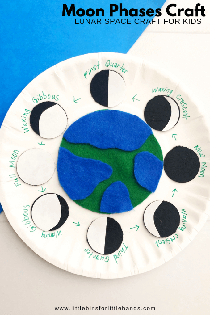 Moon phases craft activity for space theme