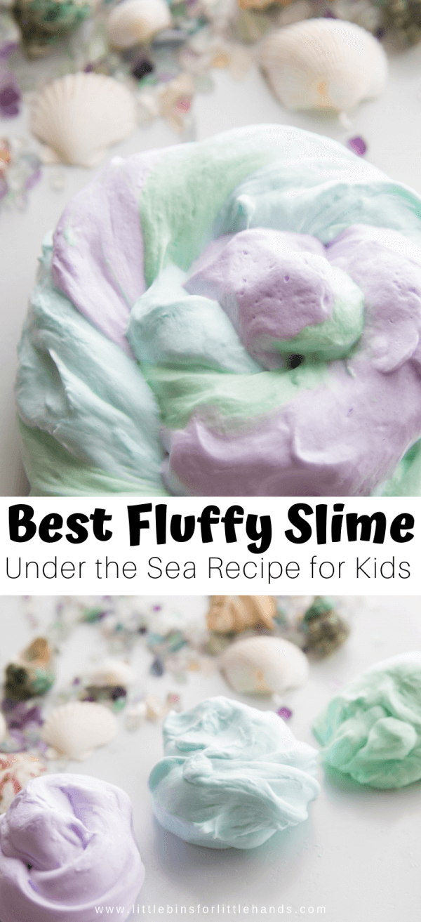 Best Ocean Fluffy Slime Recipe for an Under The Sea Theme or Mermaid Fluffy Slime!