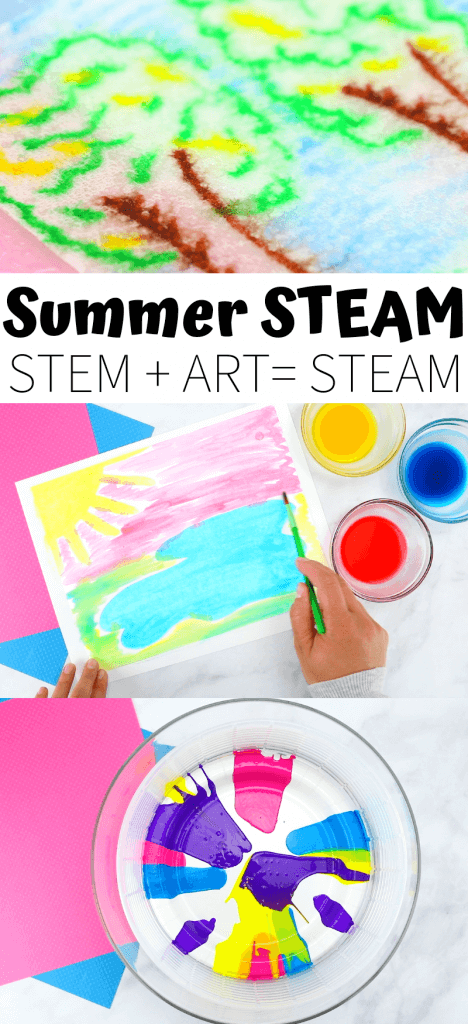 Summer STEAM projects for kids that combine art and science