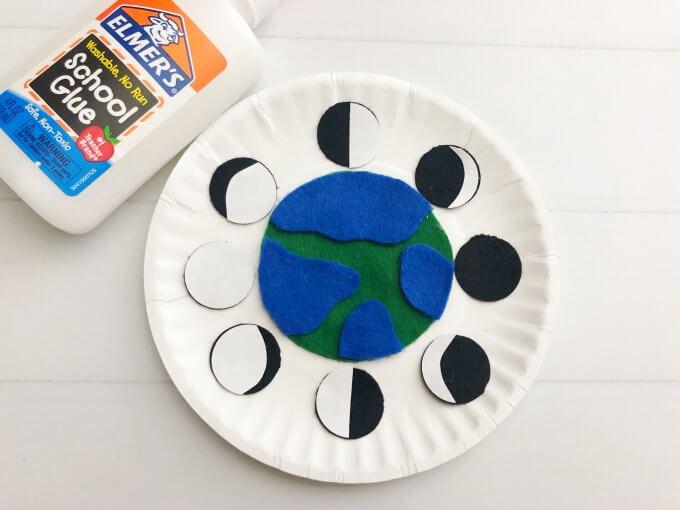 glue the white circles onto the black circles
