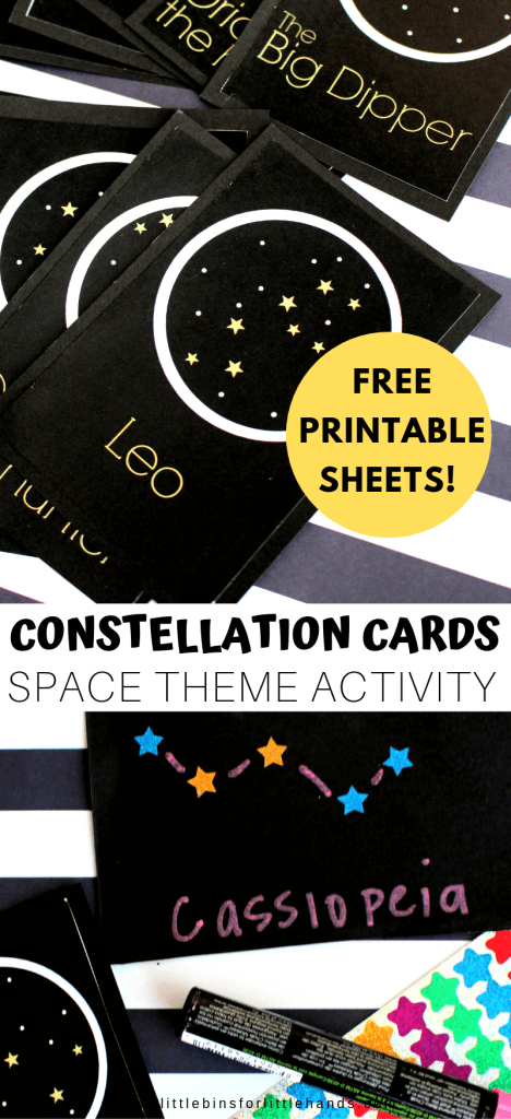 graphic regarding Printable Constellation Patterns titled Constellations For Young children: Absolutely free Printable! Very little Packing containers for