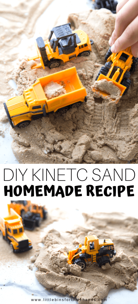 How to make kinetic sand recipe for kids sensory play activities