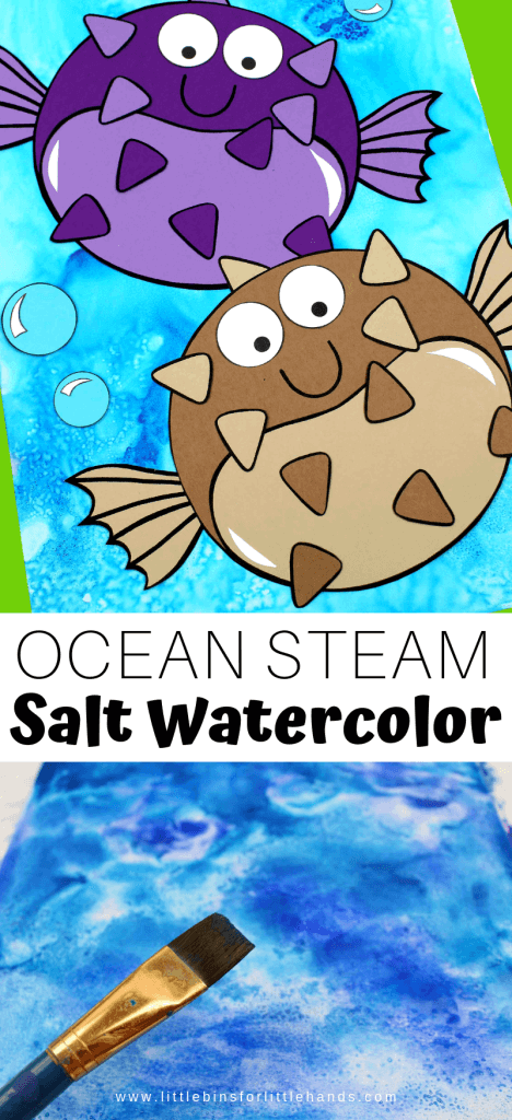 Try this fun and easy ocean theme craft, painting with salt.