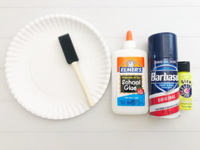supplies for glow in the dark puffy paint moon craft