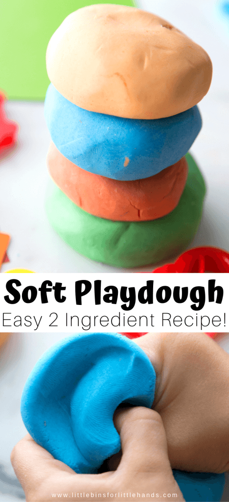 DIY super soft playdough with 2 ingredients recipe