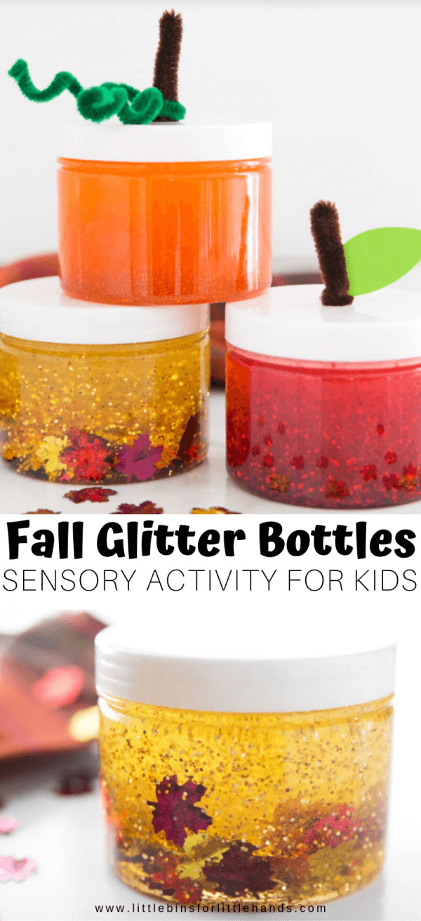 Glitter Jars How To Make Your Own For Fall Little Bins For Little Hands