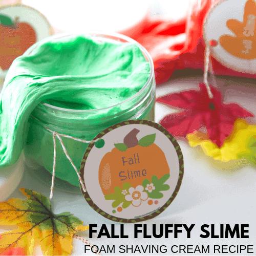 fall fluffy slime recipe