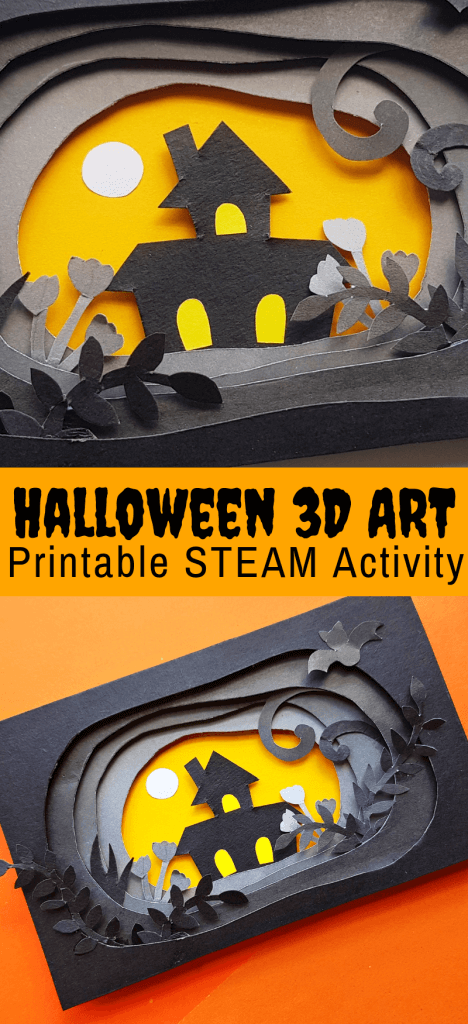 picture relating to Halloween Craft Printable known as Halloween Paper Craft inside of 3D (Free of charge Printable) Minimal Packing containers