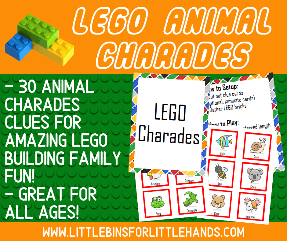 LEGO Challenge Card Game (FREE Printable)