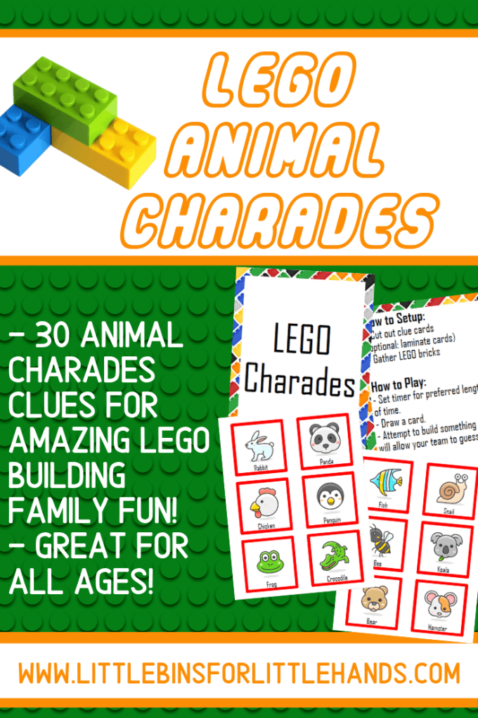 photo about Charades for Kids Printable known as LEGO Problem Card Activity (Totally free Printable) Minor Boxes for