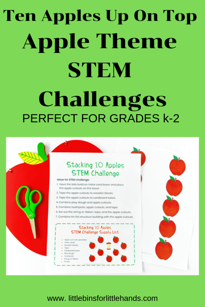 Ten Apples Up On Top Activities for Kids that include apple science, apple STEM, apple sensory play and apple math activities for kids of all ages.