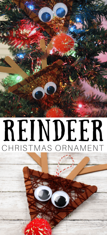 Make these fun Christmas reindeer ornaments.