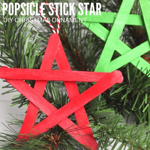 Popsicle Stick Star for kids to make.