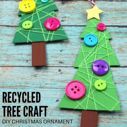 Cardboard Christmas tree ornament