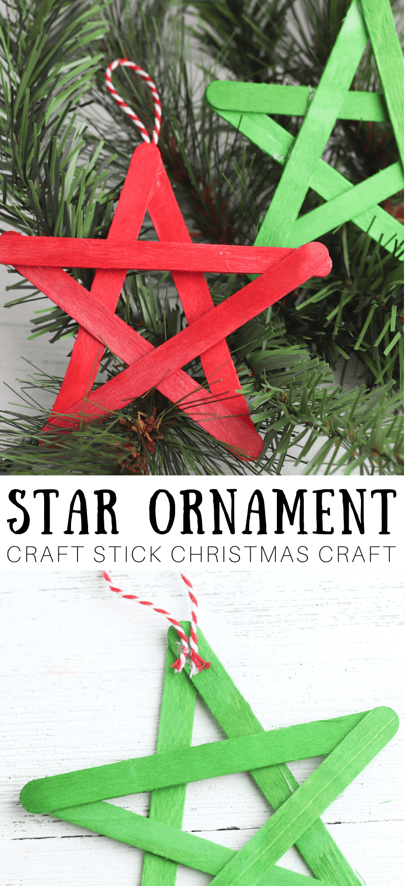 Easy Star Craft With Popsicle Sticks Little Bins For