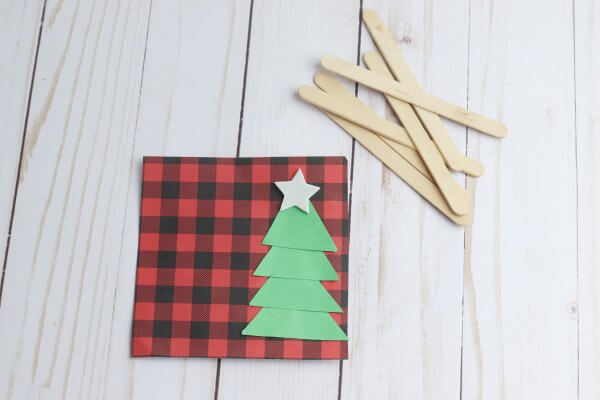 Popsicle Stick Craft Window For Christmas Little Bins For