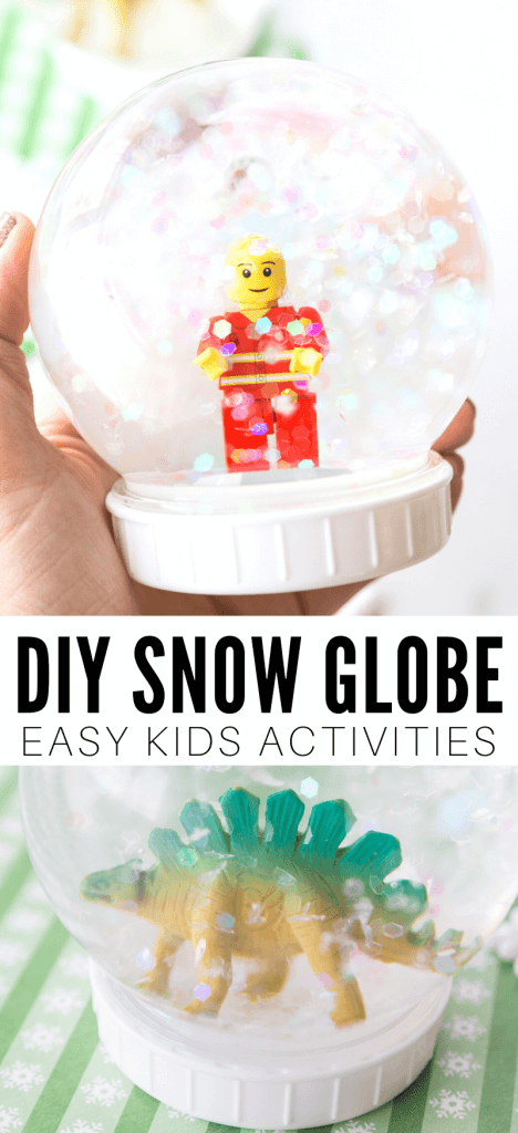 DIY snow globe for kids. Find out how to make a snow globe that kids will love!