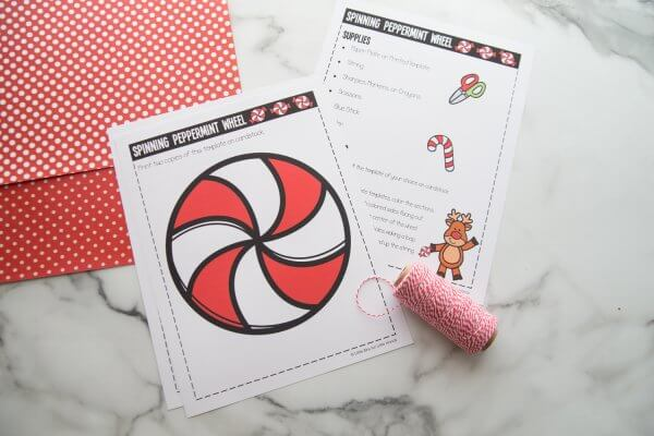 Supplies to make a paper spinner