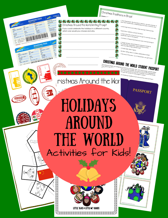 Christmas around the world. Fun activities for kids to explore all the different Christmas traditions around the world.