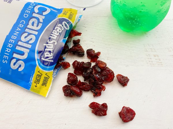 Add a handful of cranberries to the Sprite.
