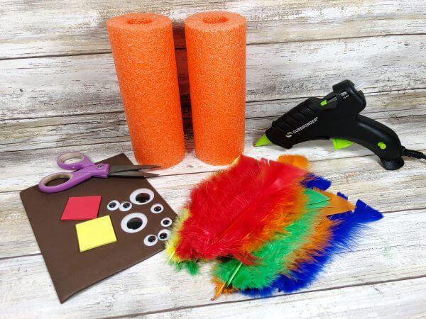 Supplies for turkey craft