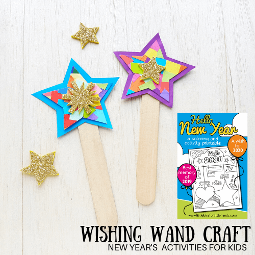 Wish Upon A Star; create these easy and colorful New Years craft for kids/