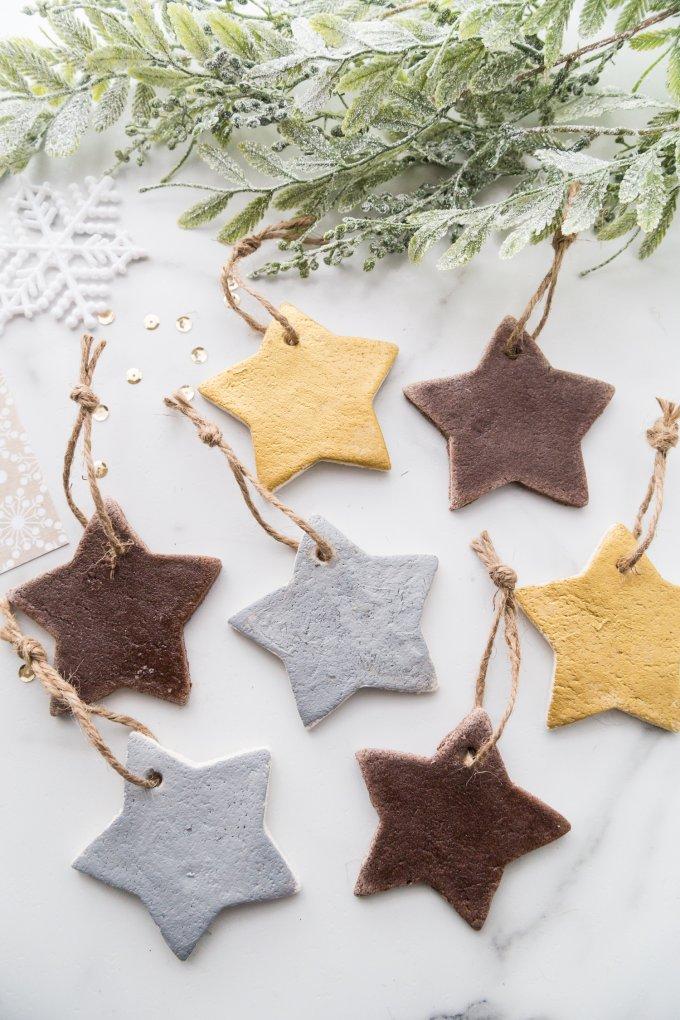 salt dough ornaments and cinnamon ornaments