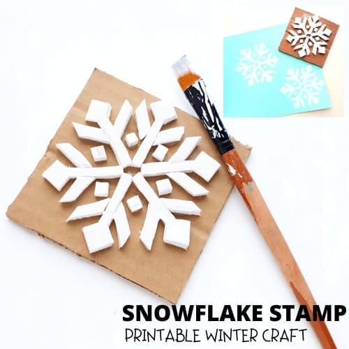 Make a snowflake stamp