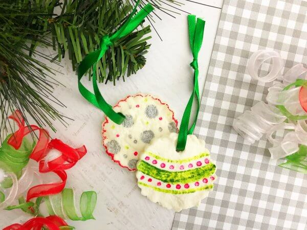 Tie ribbon and hang your ornament.
