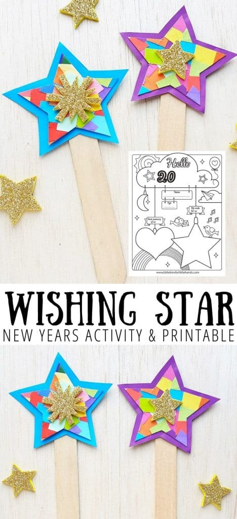 Make wishing star, a fun and easy New Years craft for kids.